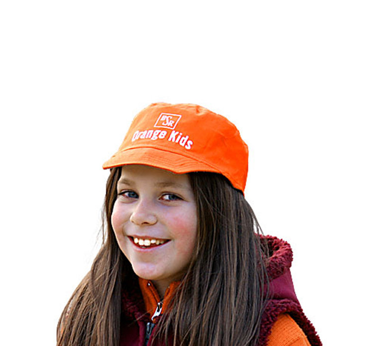 Basecap für Kinder, orange